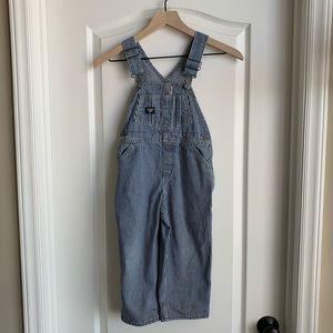 OshKosh B'gosh striped overalls size 4T
